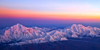 Mount McKinley and Mt. Foraker from 21,000'